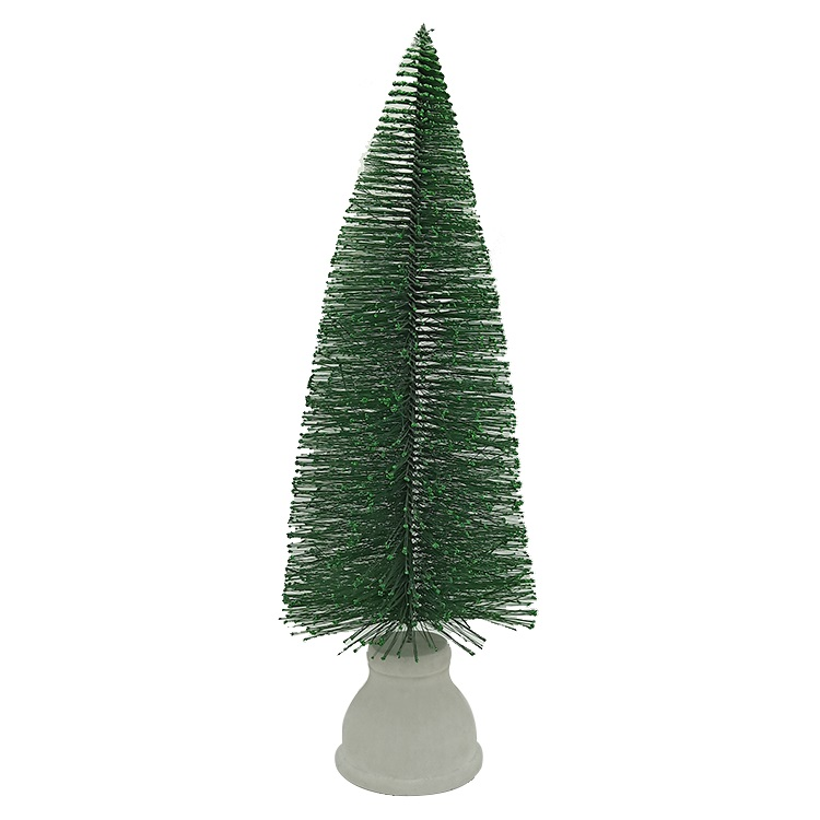 Custom Desk Mini Snowing Christmas Tree christmas decorative Pine Needle tree