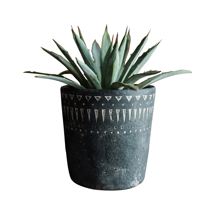 Rustic plant pot decorative cement planter pots for plants,succulents,cactus,flowers,grass with pattern Country Style