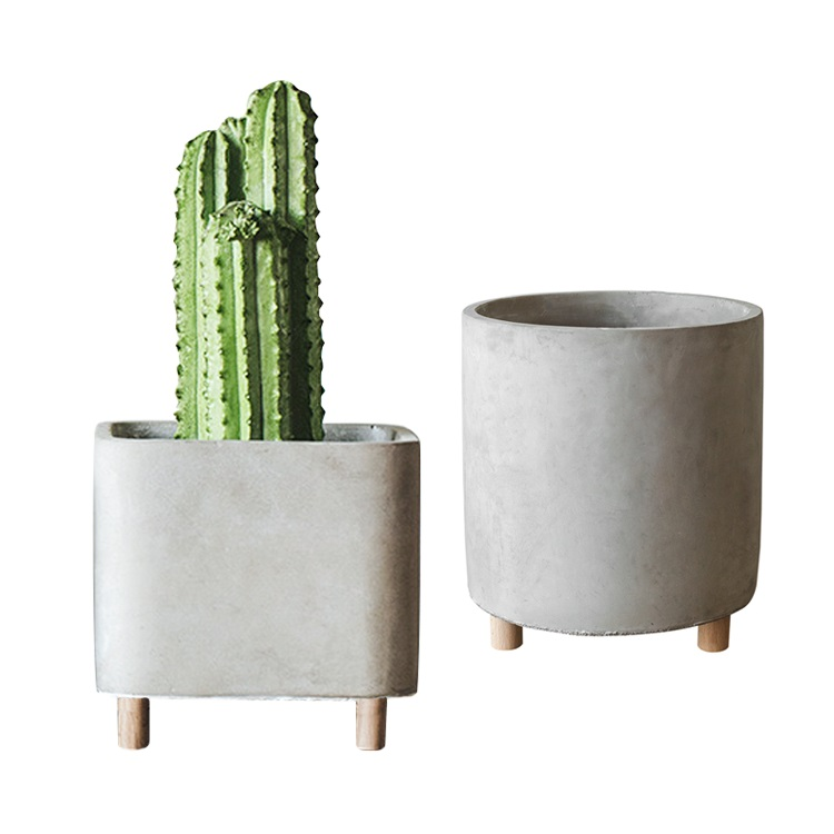 Wholesale modern decorative cement flower planter pot for plants,succulents,cactus,flowers,grass