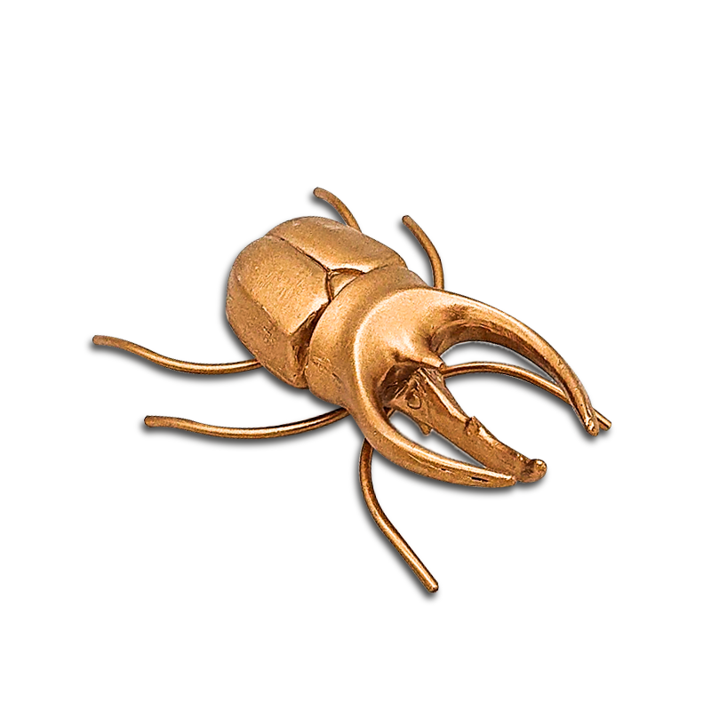 gold resin beetle sculpture insect statue for home and desktop decoration