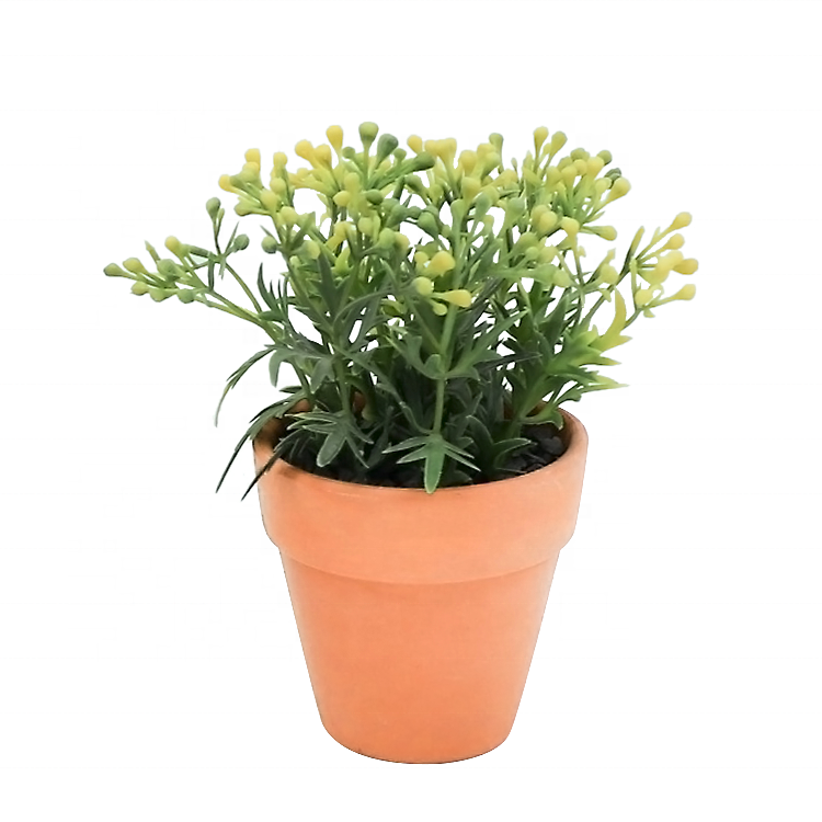 wholesale Chinese Cheap artificial plants grass plastic plant artificial flower in ceramic pot indoor or outdoor