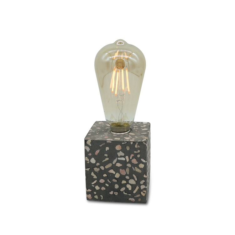 wholesale new design cement portable luminaire table lamp terrazzo lamp table lamps home decor