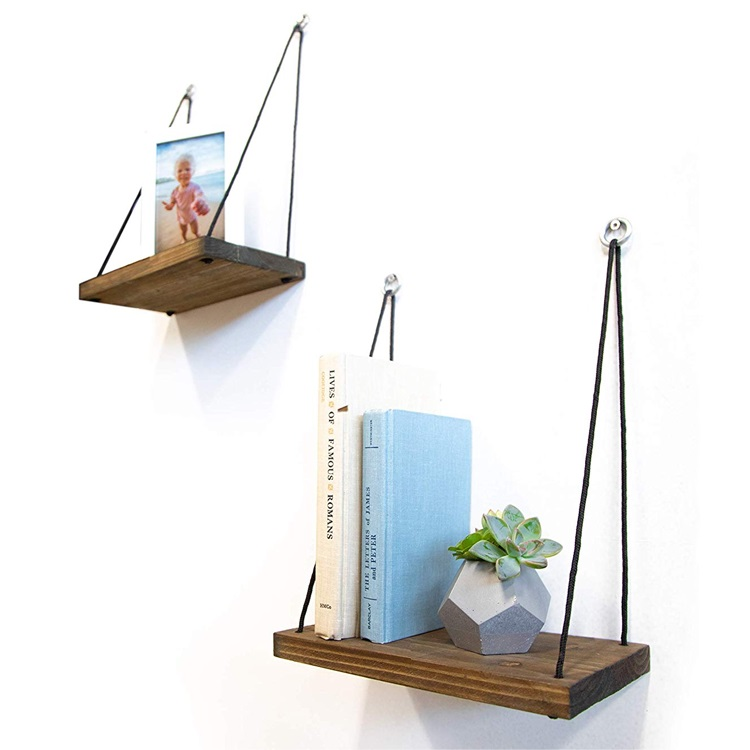 wood wholesale hanging wall rustic mount shelf set of 2,for Bedroom, Living Room,plants pot