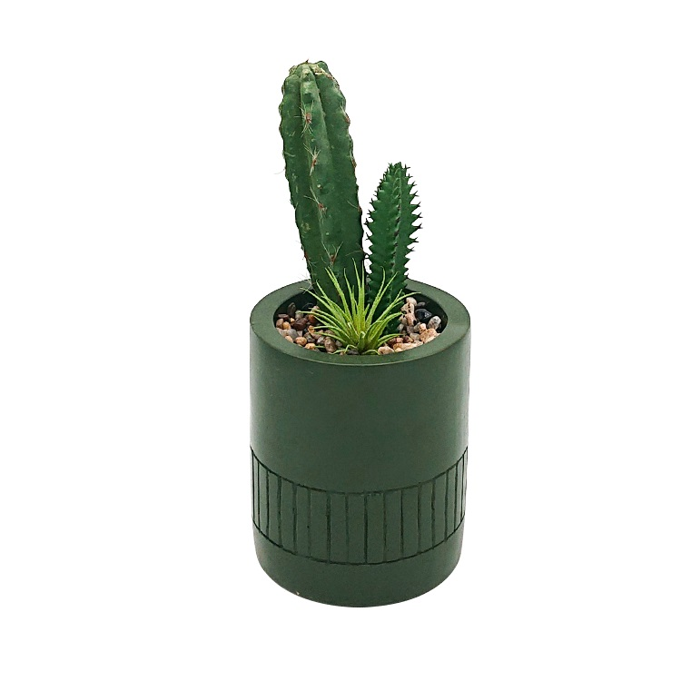 Cheap home decorative artificial succulent cactus mini artificial plants in pots