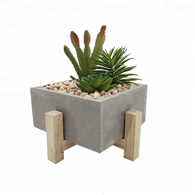 Cheap home decorative artificial succulent mini artificial plants in pots