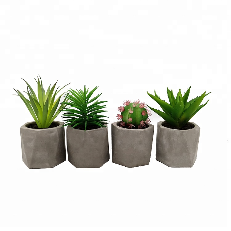 Home garden decoration artificial plants artificial cactus artificial aloe potted