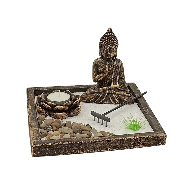 Wholesale buddha art desktop garden feng shui crafts for gift zen garden