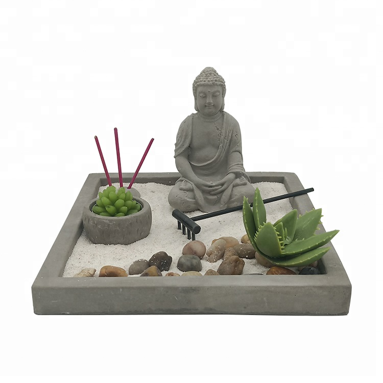 Wholesale japanese buddha zen garden decorative desktop zen garden