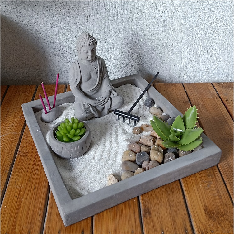 Suppliers Of Wholesale Japanese Buddha Zen Garden Decorative Desktop Zen Garden Company