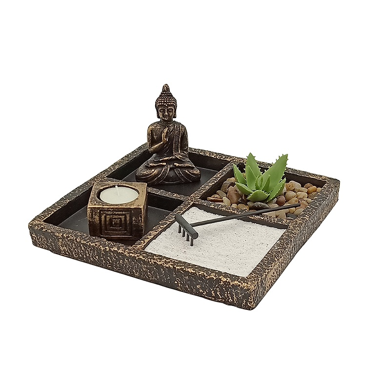 Wholesale tiny thai buddha statues art buddha statues with candle holder zen garden