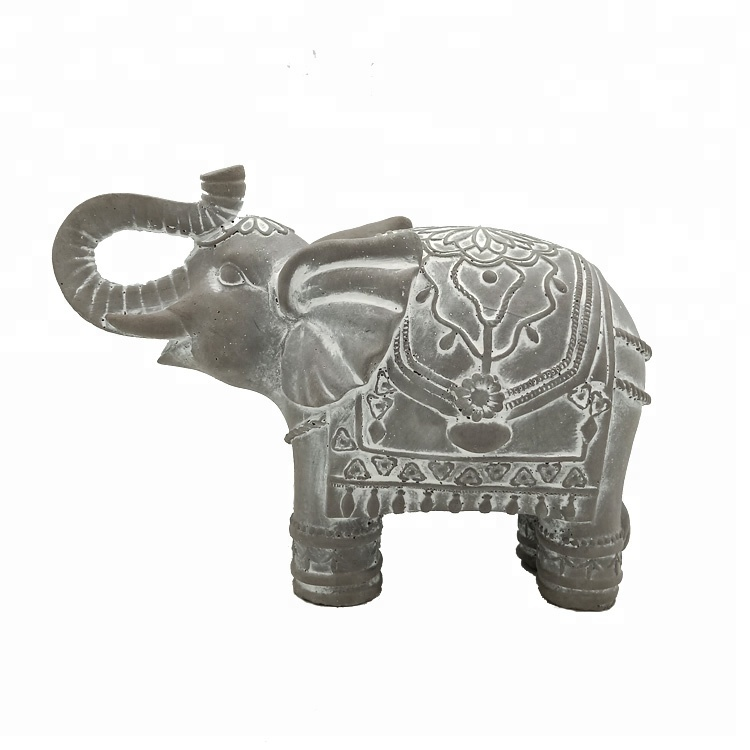 Custom home decoration animal concrete statue cement elephant statue